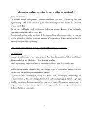 Information om laseroperation for nærsynethed og bygningsfejl