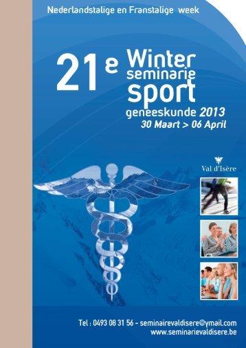 Download de folder - Winter seminarie van sport geneeskunde 2012
