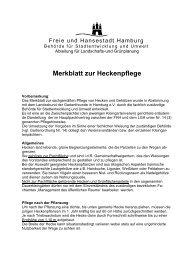 Merkblatt zur Heckenpflege - Landesbund der Gartenfreunde in ...