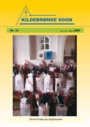 Nr. 10. Juni - juli - august 2009 - Kildebrønde Sogn