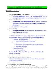 Hoofdstuk 3: Afspraken tussen de werkgever en de werknemer