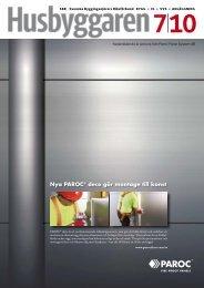 Nedanstående är annons från Paroc Panel System AB - Husbyggaren