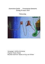 Oosterkerk Zwolle Protestantse Gemeente Zondag 24 maart 2013 ...