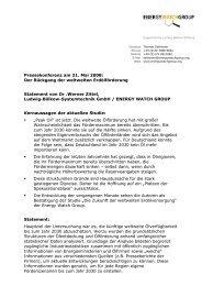 Dr .Werner Zittel - Ludwig-Bölkow-Systemtechnik GmbH