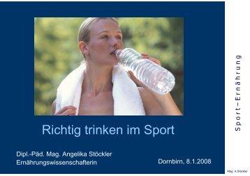 Richtig trinken im Sport