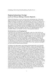 Regional planering i Sverige - MiSt-programmet