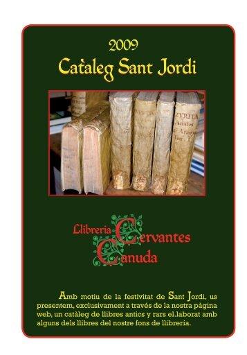 Cataleg Sant Jordi - Llibreria Cervantes-Canuda