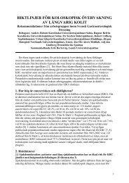 Riktlinjer för koloskopisk övervakning av långvarig kolit - Svensk ...