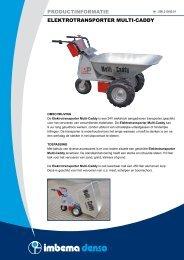 productinformatie elektrotransporter multi-caddy - Imbema Denso
