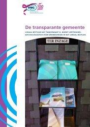 De transparante gemeente - Vereniging van Nederlandse Gemeenten