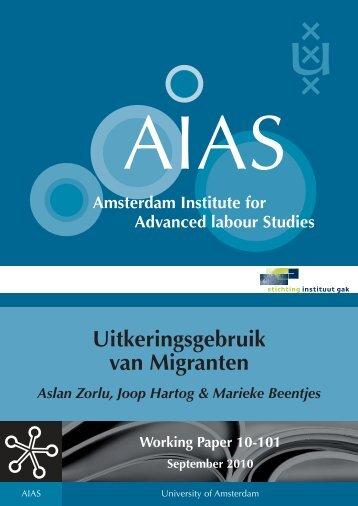 Uitkeringsgebruik van Migranten - AIAS