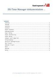 Fuld dokumentation og installationsvejledning ... - Excel-regneark.dk