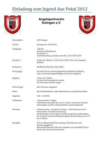 Einladung zum Jugend Aue Pokal 2012 - ASV Unterweser ev von ...