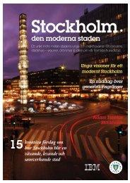 rapporten från Stockholm – den moderna staden - En smartare planet
