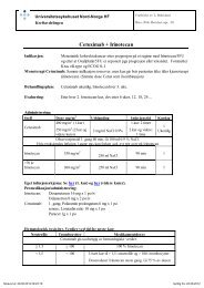 PB0947 Kurskjema Cetuximab+Irinotecan - Universitetssykehuset ...