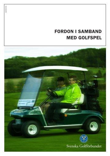 Fordon i samband med golfspel - Golf.se