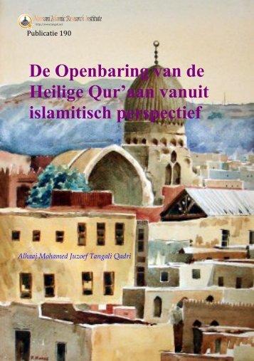 190 De Openbaring van de Heilige Qur'aan vanuit islamitisch ...