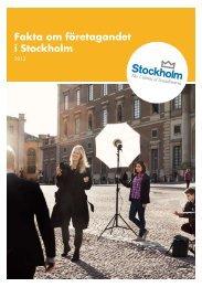 Fakta om företagandet i Stockholm 2012 - Stockholm Business Region