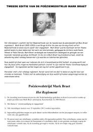 Poëziewedstrijd Mark Braet Het Reglement - Klasse