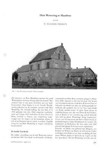 Huis Westering te Maasbree - Kastelen