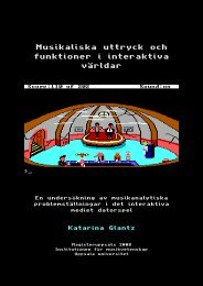 Musikaliska uttryck och funktioner i interaktiva v rldar - C64.com