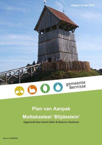 plan van aanpak mottekasteel Blijdestein.pdf - Gemeente Bestuur ...