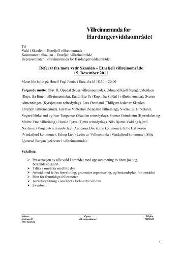 Referat fra møte vedr Skaulen Etnefjell 15 desember - Etnelaks.no