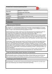 Protokoll der GV 2013 - SGUV
