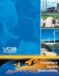 The responsibility of VGB I. Nuclear Power Plants - VGB PowerTech