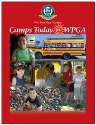 Camps Today @ WPGA - West Point Grey Academy