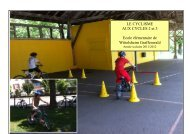 PROJET CYCLISME cycle 2 et 3 - IEN Wittelsheim