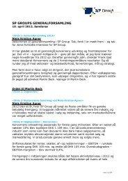 NKA - Formandens beretning til GF - 04 13 - SP Group A/S