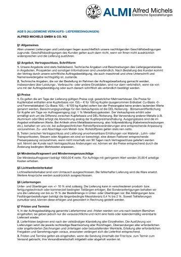 AGB - ALMI Alfred Michels GmbH & Co. KG