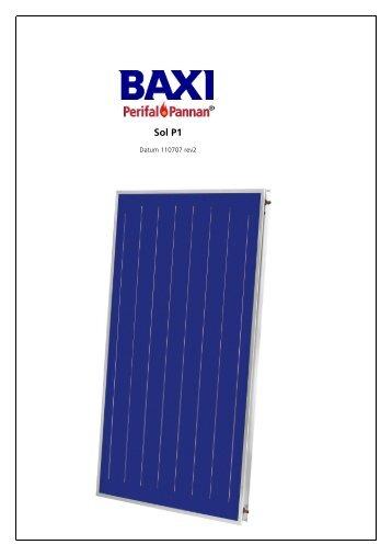 Instruktion Perifalpannan Sol P1 - Baxi