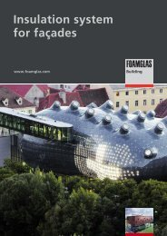 Insulation system for façades - Foamglas