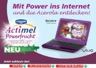 Mit Power ins Internet