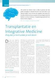 Transplantatie en Integrative Medicine - Nikim