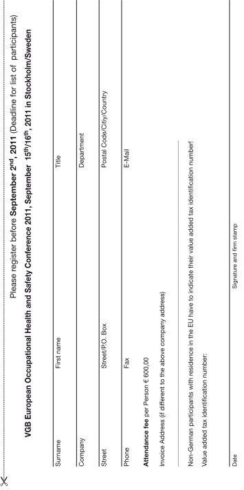 registration form - VGB PowerTech