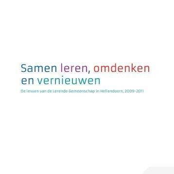Samen leren, omdenken en vernieuwen - Hellendoorn in actie!