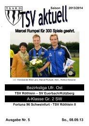 TSV aktuell Nr. 5 2013/14