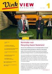 Nominatie voor Recycling Award Nederland - Vink