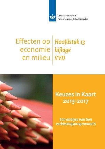 Keuzes in Kaart 2013-2017, analyse verkiezingsprogramma VVD