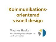 Kommunikations- orienterad visuell design - Lunds universitet