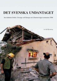 Det svenska undantaget.pdf - Svensk Israel-Information