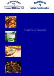 UW ADRES VOOR ZUIVEL EN FOOD - Van der heide food