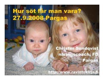 (Microsoft PowerPoint - hur s\366t f\345r man vara) - Christer ...