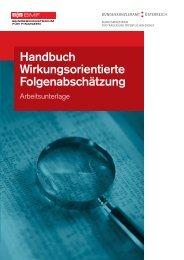 Handbuch Wirkungsorientierte Folgenabschätzung