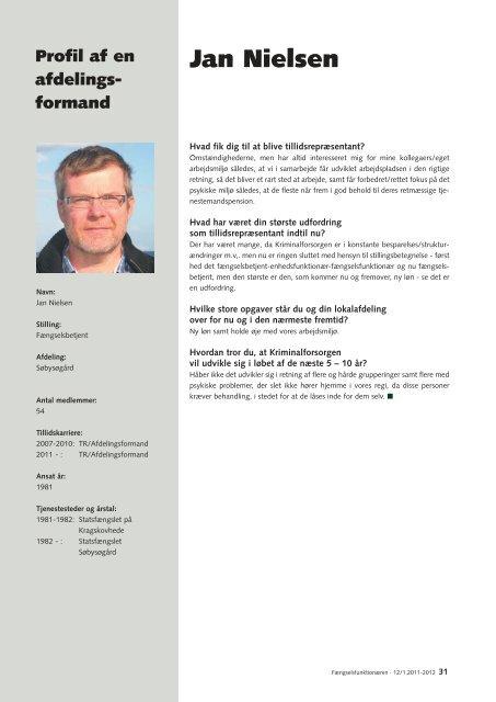 Fængselsfunktionæren 12-2011 - Fængselsforbundet
