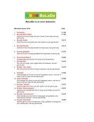 Menukaart januari 2010 Prijs 1. Krentenbol € 1,00 2 ... - BaLaDe