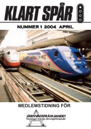 April nr 1 2004 - Järnvägsfrämjandet